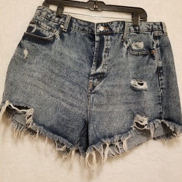 Wild Fable short deconstructed jean shorts